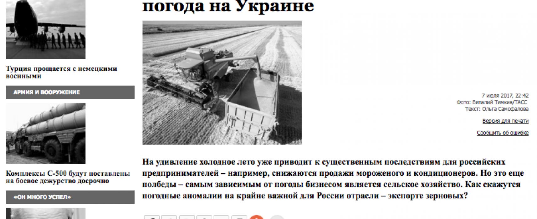 Фейк: Из-за сокращения урожая зерновых в Украине выиграют российские крестьяне