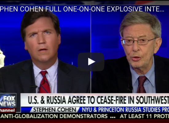 The Desperation of Stephen Cohen
