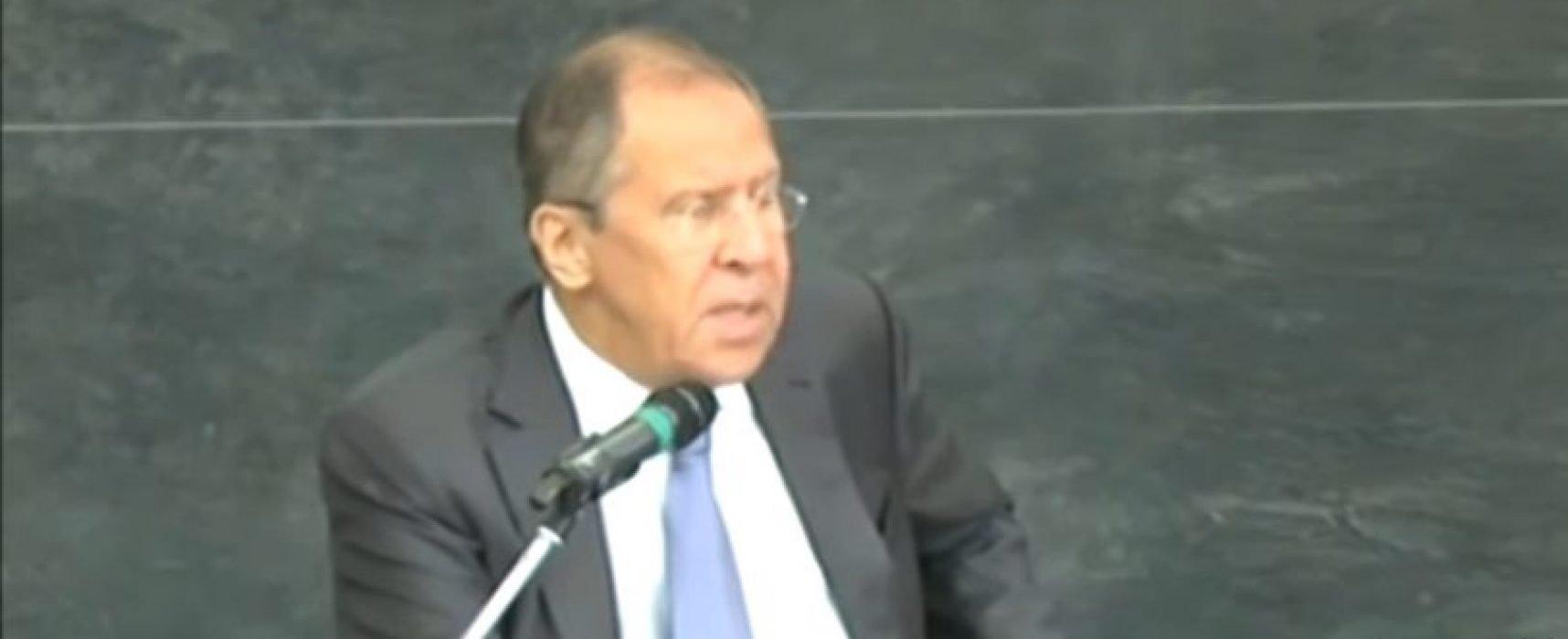 Каналът Russia Today изрязал от видеото си фразата на Лавров, че Русия участва в конфликта в Донбас