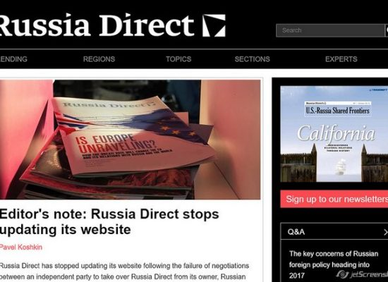 Russia: Does website closure indicate the Kremlin is feeling economic pinch?