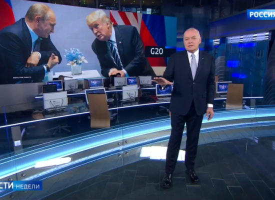 Here's How Russian State TV Spun Putin's G20 Meeting With Trump
