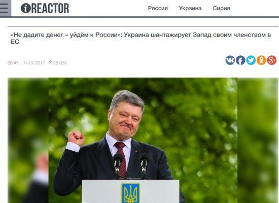 Fake: Ukrajina vydírá Západ členstvím v EU