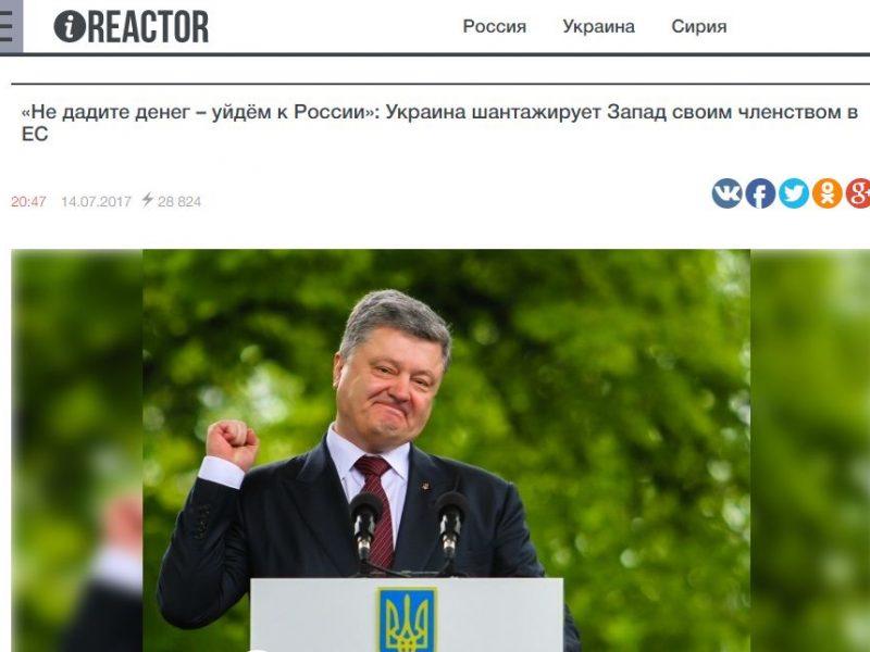 Fake: Ukraine droht EU mit Geldforderungen, sonst Zuwendung zu Russland