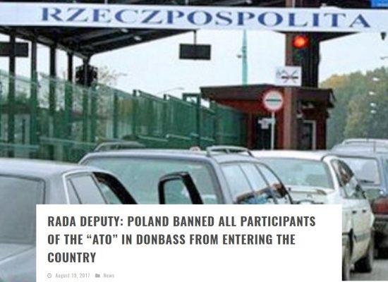 Falso: A los veteranos del ATO les prohibieron visitar Polonia