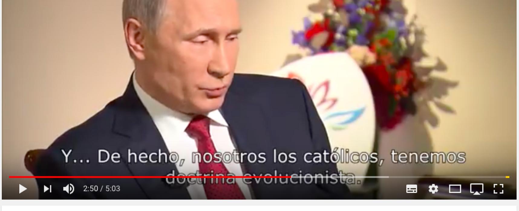 Creándole una imagen de buen cristiano a Putin, utilizando mentiras