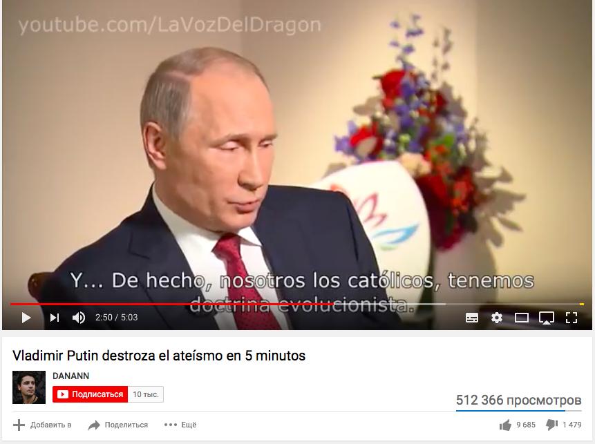 Creándole Una Imagen De Buen Cristiano A Putin Utilizando