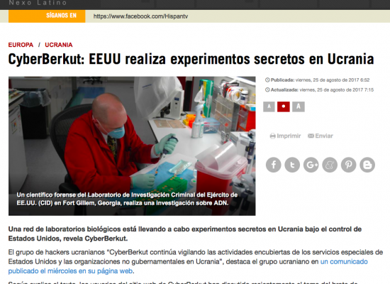 Falso: EE.UU. realiza experimentos secretos en Ucrania