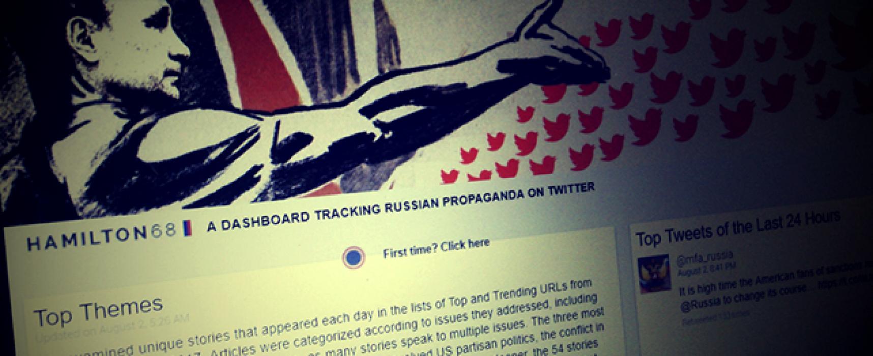 В САЩ стартира платформата Hamilton 68 за мониторинг на руската пропаганда в Twitter