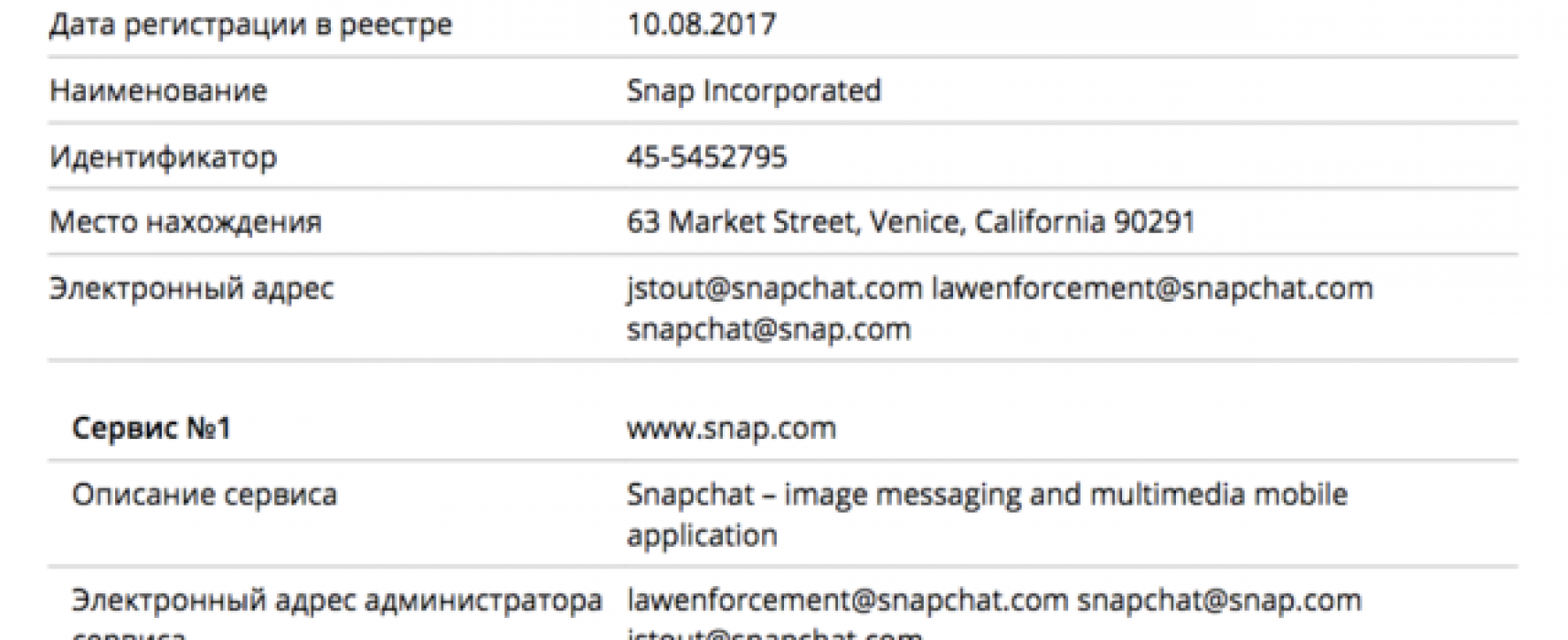 Russian federal censor adds Snapchat to government list of instant messengers without company's knowledge