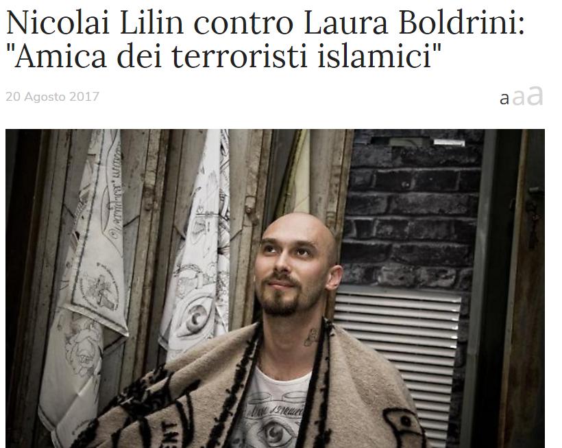 Lilin Boldrini amica terroristi