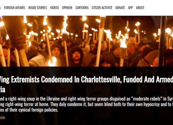 """Manipulacja: wiec w Charlottesville związany był z """"wsparciem"""" udzielanym przez USA prawicowym ekstremistom i radykałom na Ukrainie"""