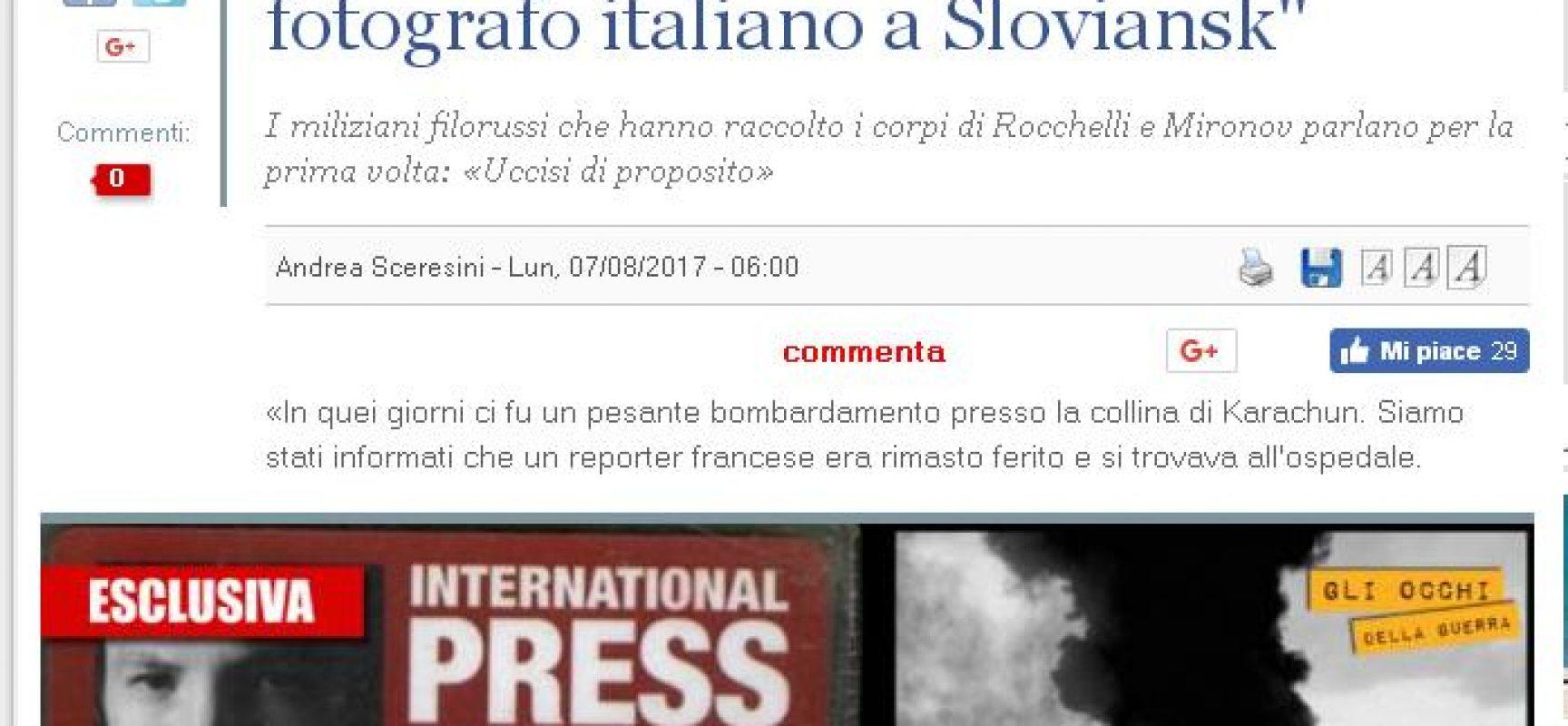 Ennesimo scoop sulla morte di Rocchelli