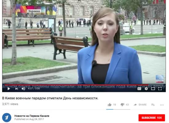 De quoi parlait dans ses sujets TV la journaliste de «Perviy Canal» qui a été explusée d'Ukraine?