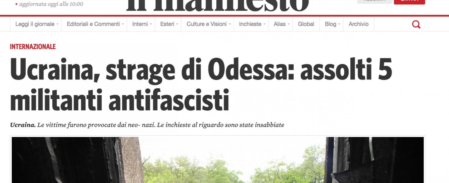 Fake del Manifesto : Insurrezioni anti fasciste in Ucraina