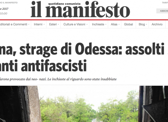 Fake del Manifesto : Insurrezioni anti fasciste in Ucraina