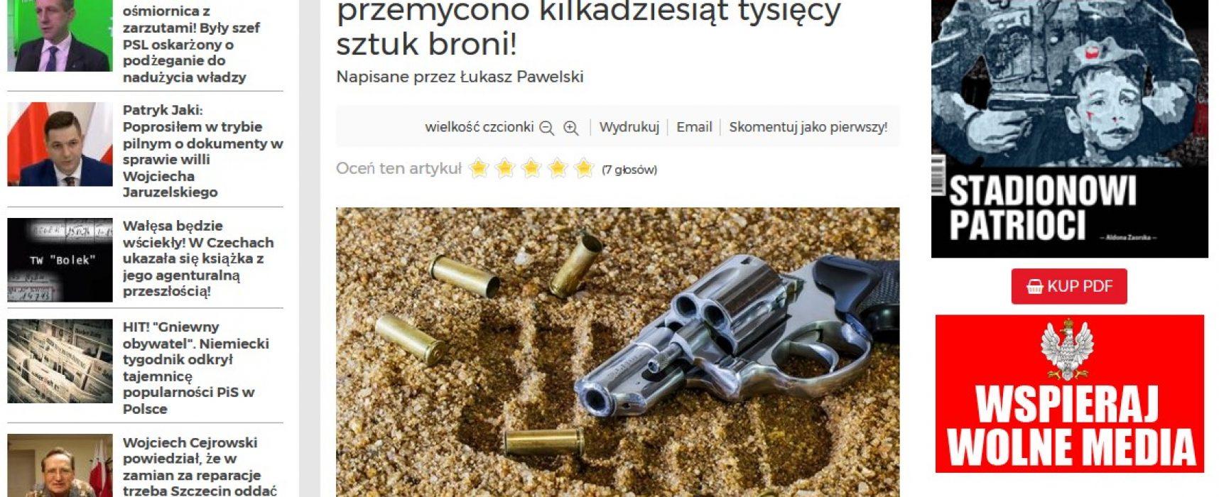 Fejk: Zalew nielegalnej broni z Ukrainy i podziemne struktury ukraińskich terrorystów