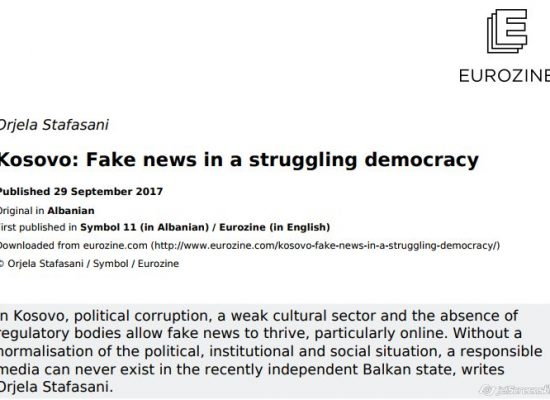Kosovo: Fake news in a struggling democracy