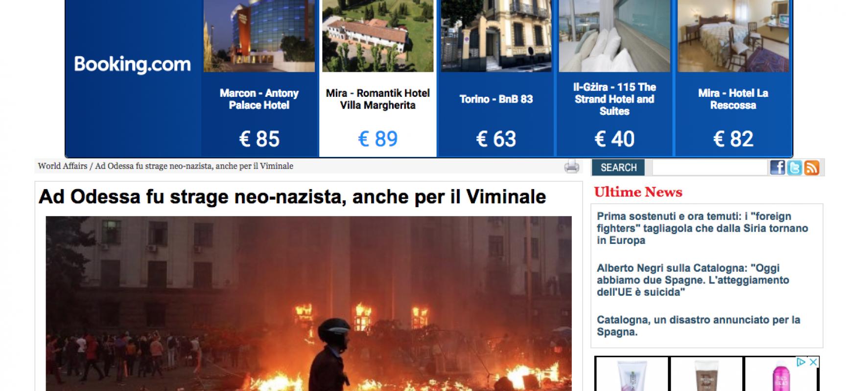 Fake : Ad Odessa fu strage neo-nazista, anche per il Viminale