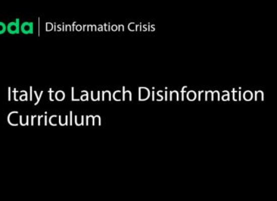 Italy to Launch Disinformation Curriculum