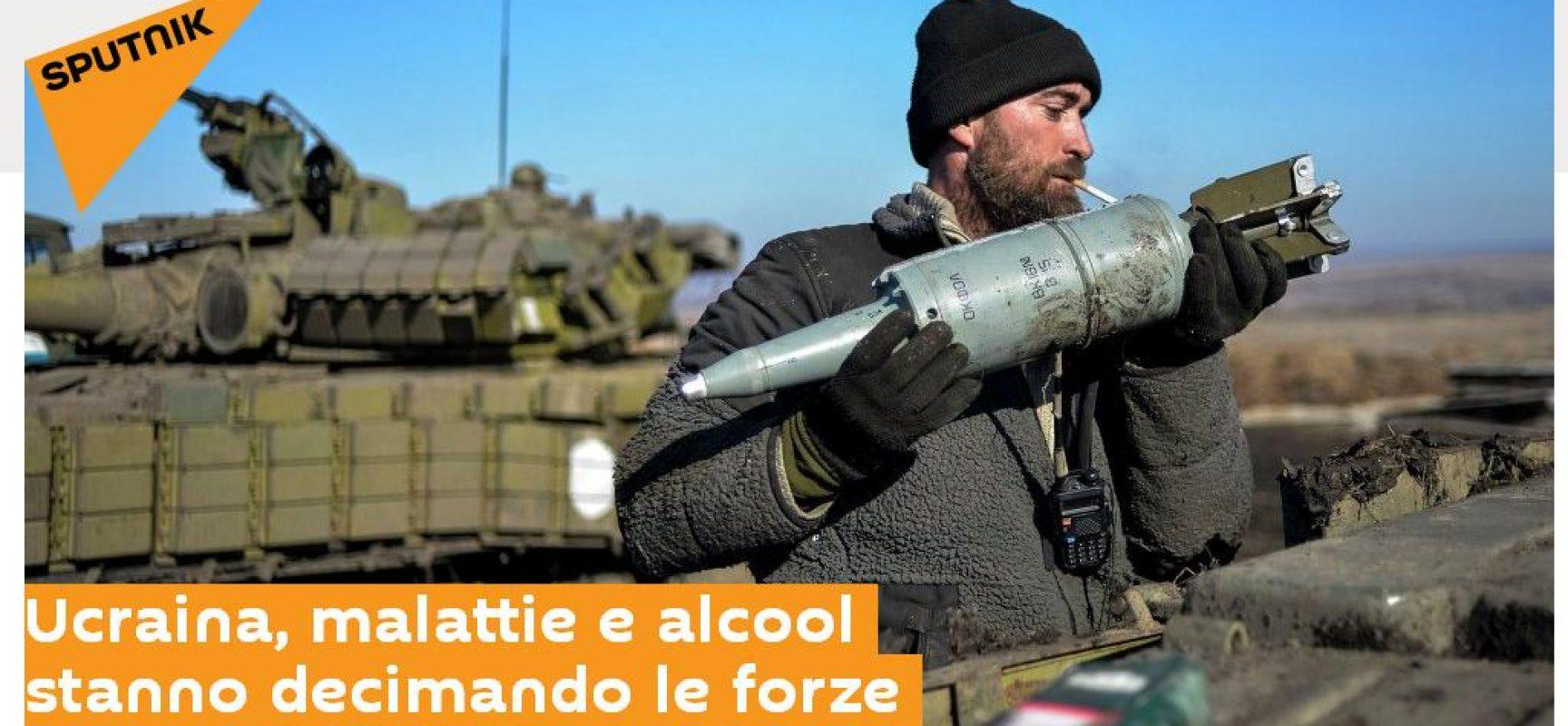 Fake : Ucraina, malattie e alcool stanno decimando le forze armate