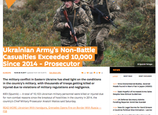 Fake: Plus de 10.000 militaires ukrainiens sont morts hors combat