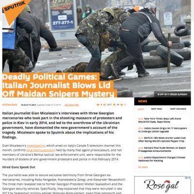 Fake: Georgian Snipers Shot Maidan Demonstrators