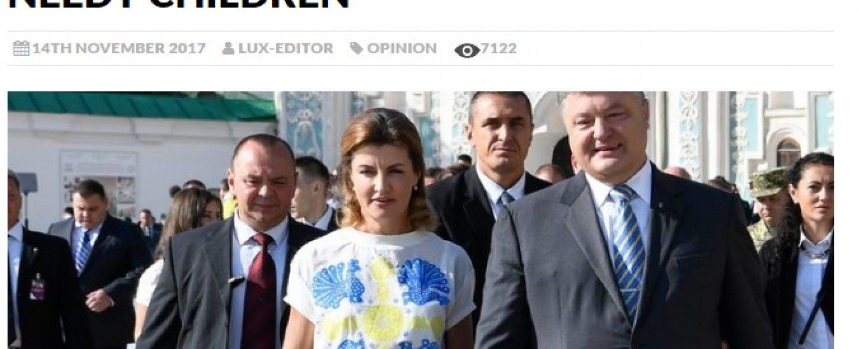 Fałszywa wiadomość o żonie Petra Poroszenki już w Polsce