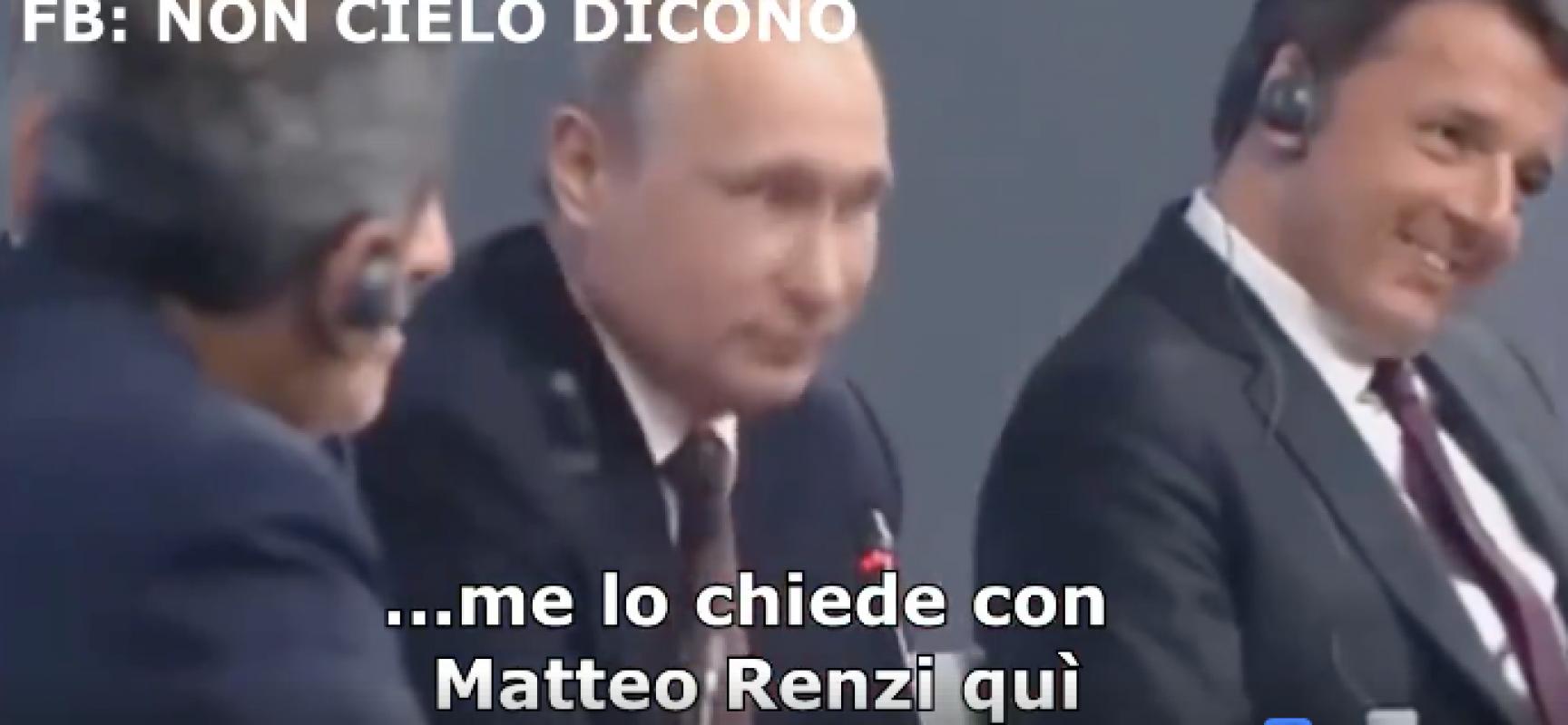 Fake : Putin parla della nazionale di calcio italiana di fronte a Renzi