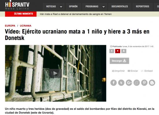 Falso: El ejército ucraniano mata a 1 niño y hiere a 3 más en Donetsk
