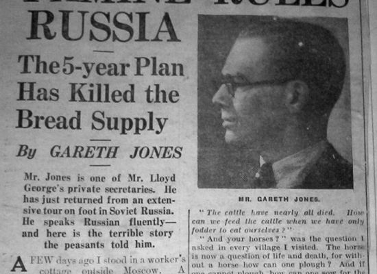 Gareth Jones, un héroe de Ucrania, testigo de la Gran Hambruna