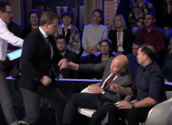 The trait of violence against foreigners on Russian TV