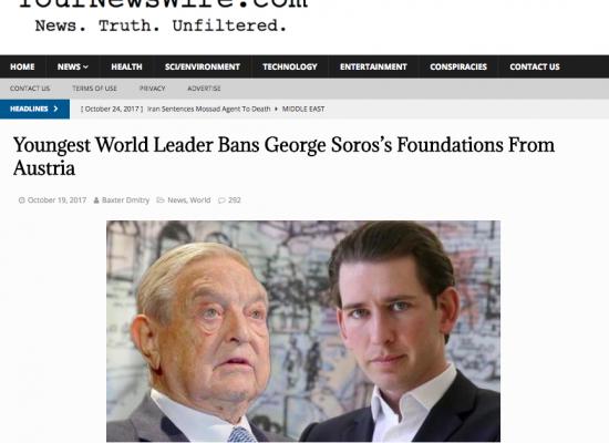 Noticia falsa relaciona a canciller electo de Austria con filántropo George Soros