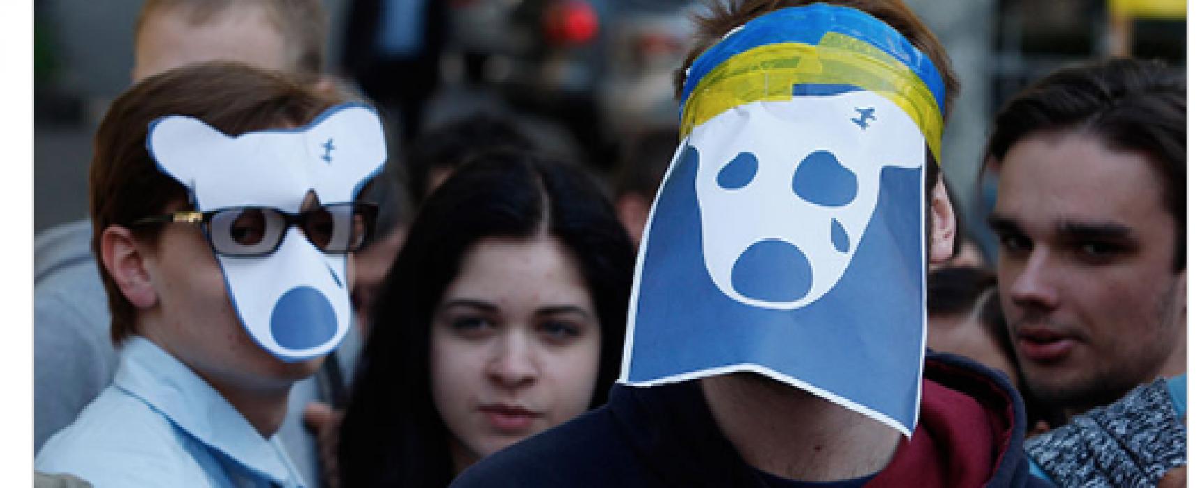 """Fake: I cittadini di Kiev rivogliono """"Vkontakte"""" e i film russi."""
