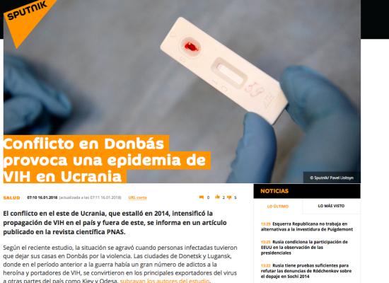 Falso: Conflicto en el Donbás provoca una epidemia de VIH/SIDA en Ucrania