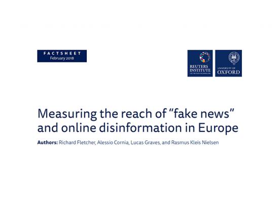 Midiendo el alcance de las «noticias falsas» y la desinformación digital en Europa