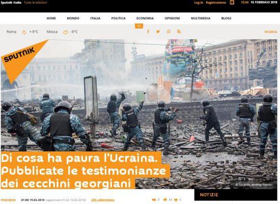Fake : Di cosa ha paura l'Ucraina. Pubblicate le testimonianze dei cecchini georgiani