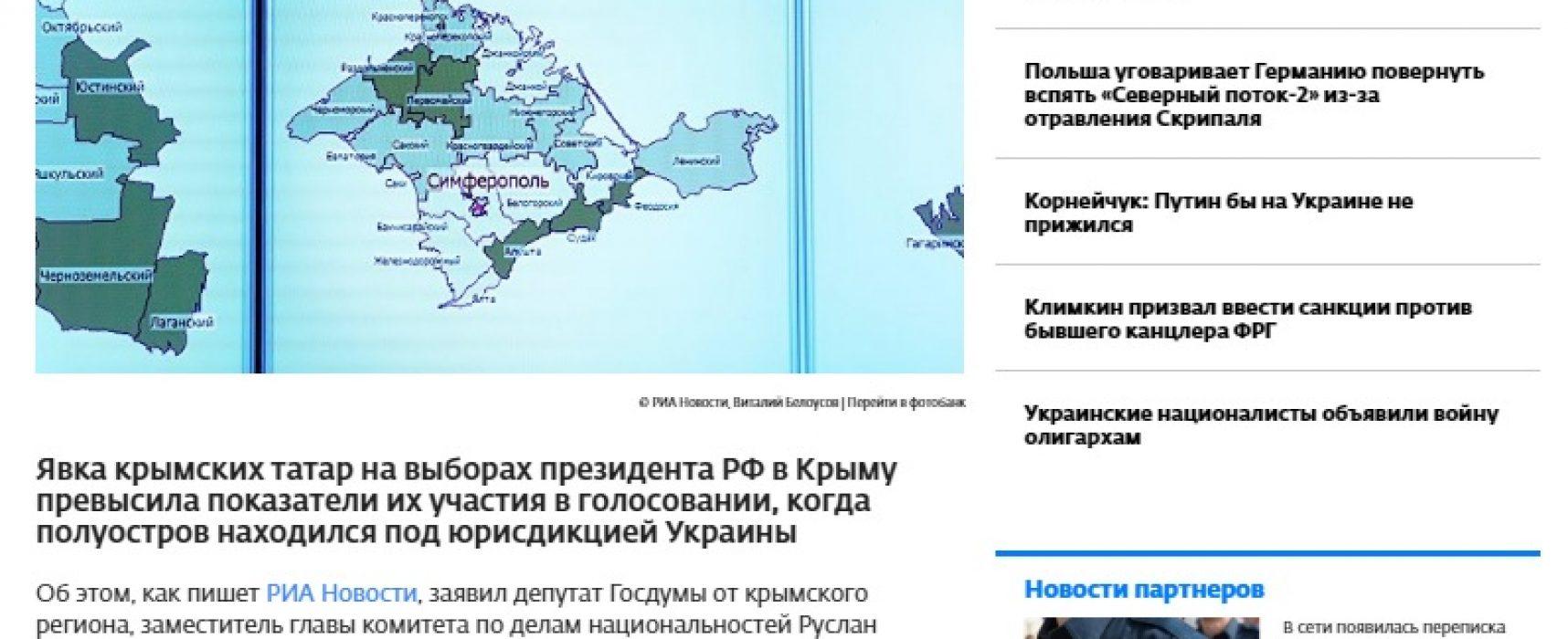 Fake: Les Tatars de Crimée ont voté plus activement qu'à l'époque du pouvoir ukrainien