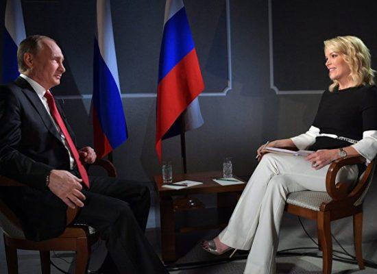 """""""Może to nie byli Rosjanie, tylko Ukraińcy i Żydzi"""". 7 fake'ów Putina w wywiadzie dla Megyn Kelly"""