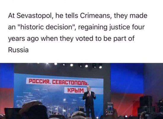 МИД Украины: Euronews не вспомнил об аннексии в сюжете о визите Путина в Крым