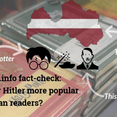 Sputnik and Zvezda falsely claim Hitler's Mein Kampf is more popular than Harry Potter in Latvia