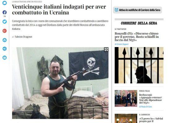 Manipolazione : Corriere della Sera sui mercenari italiani