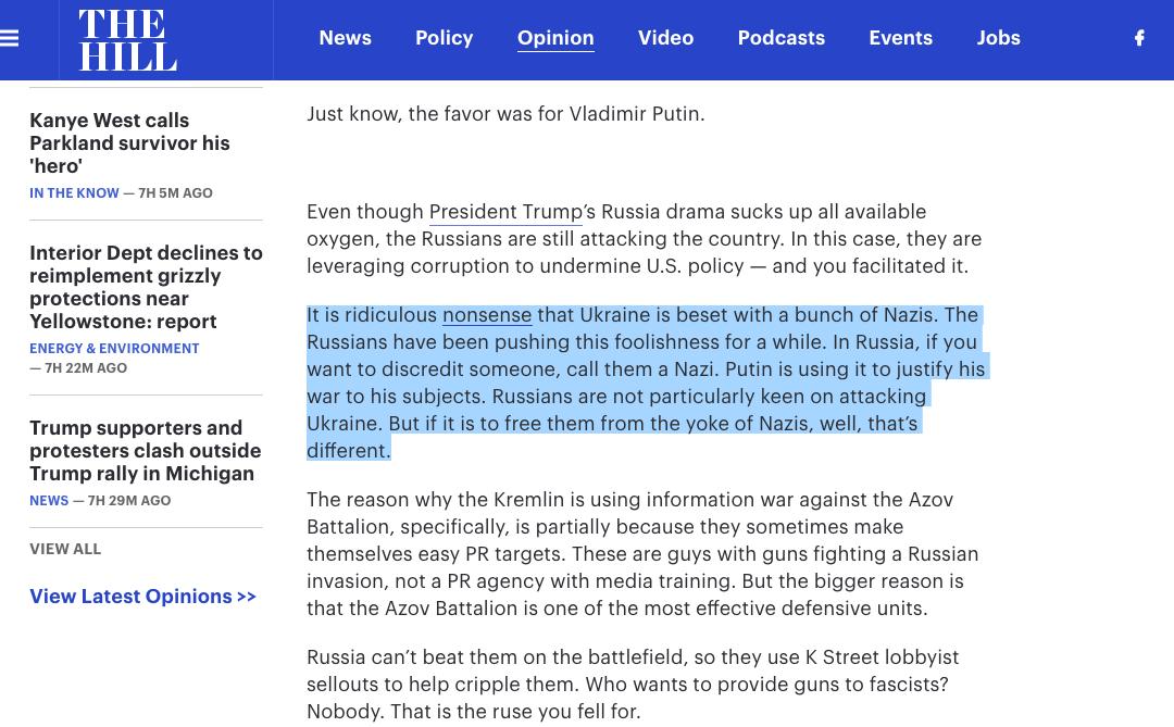 Тег: искажение событий на Украине