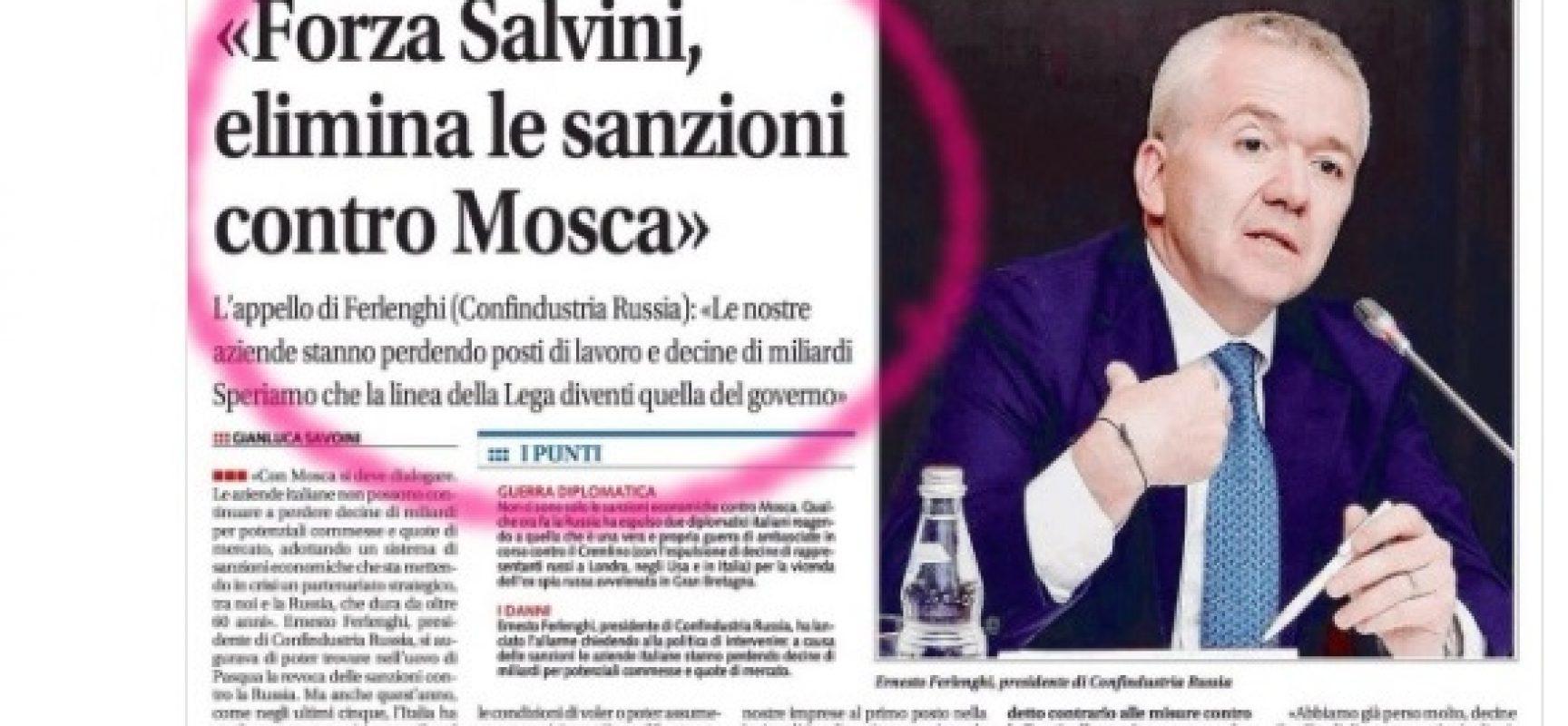 Fake : Le sanzioni alla Russia stanno causando un danno incalcolabile all'economia italiana