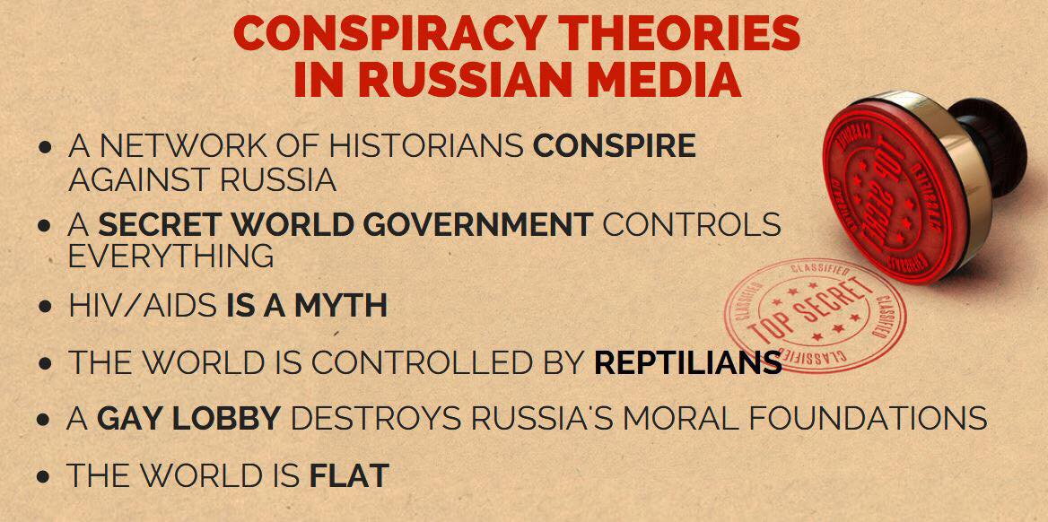 everyone against russia conspiracy theories on the rise in russian