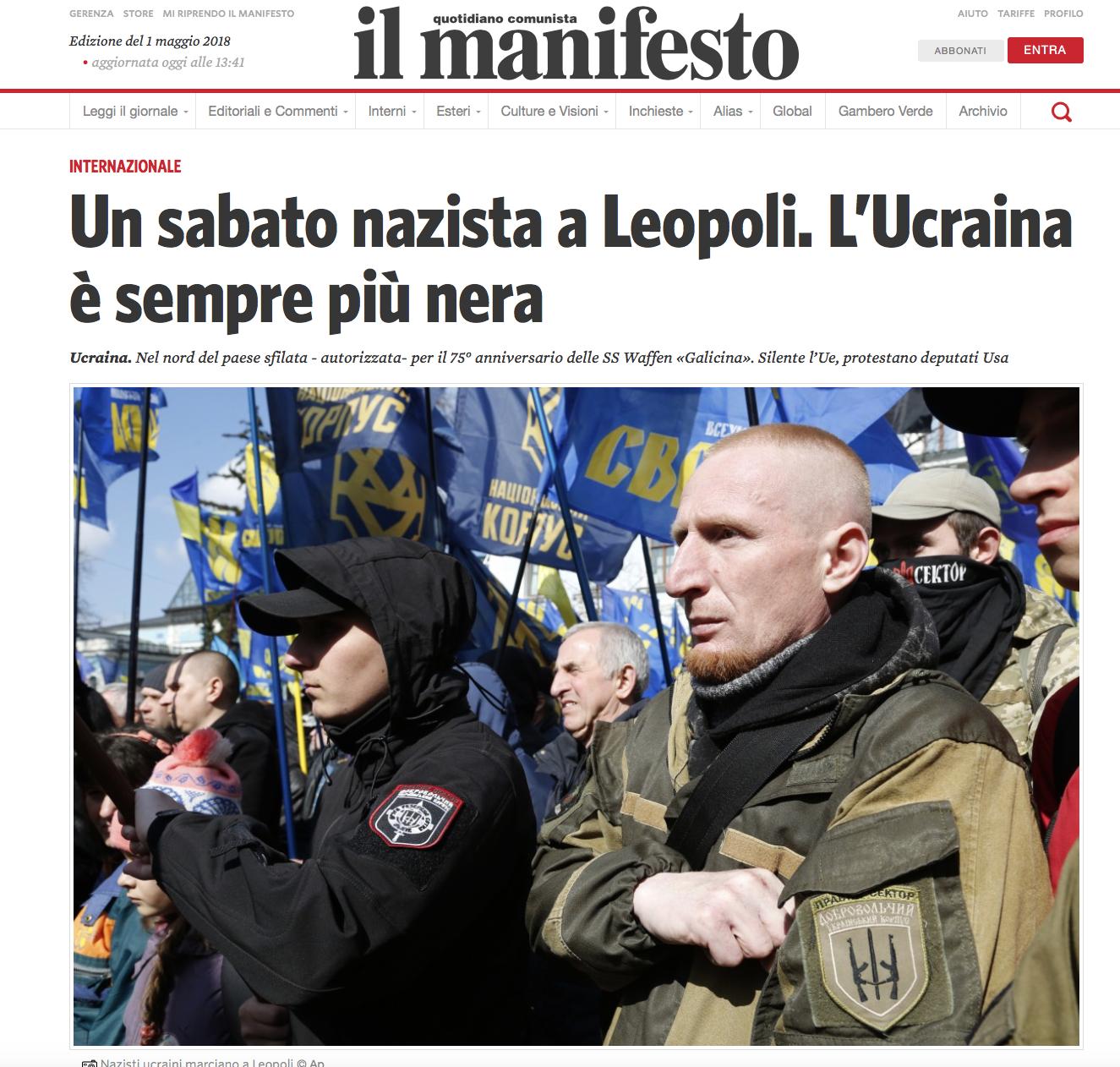 Fake manifesto ucraini nazisti