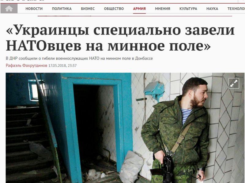Fake: Des militaires de l'OTAN ont été tués dans le Donbass
