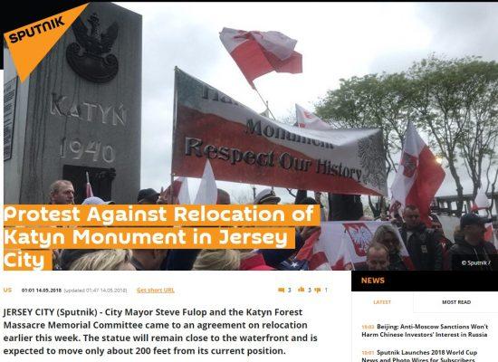 DEZINFORMACJA: Rosjanie martwią się o Pomnik Katyński
