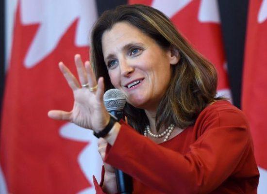 Фейк «Первого канала»: министр иностранных дел Канады скрывала нацистское прошлое своего деда