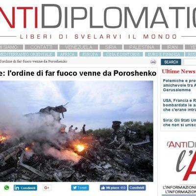 Fake : Boeing malese: l'ordine di far fuoco venne da Poroshenko