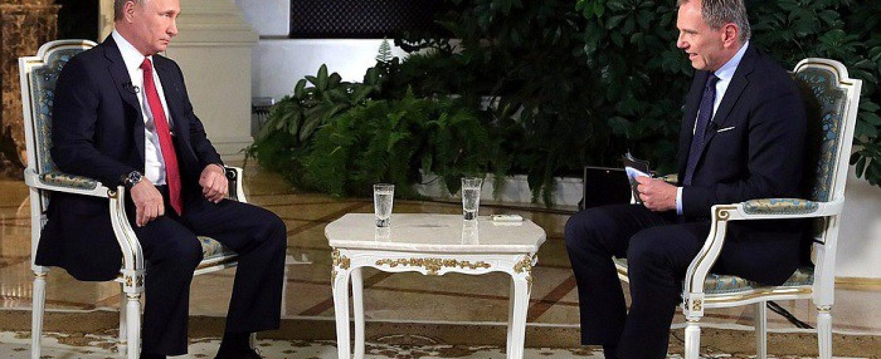 Putin dostal v rozhovoru s rakouským moderátorem zabrat